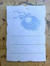 Pergamena per nascita / battesimo per bimbo con bavaglino
