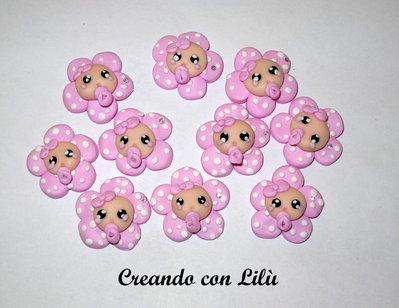 inserzione riservata katia03 200 ciondoli in fimo fiore ciuccio pois