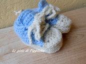 Scarpine bebè  sportive bianco celeste , idea regalo.