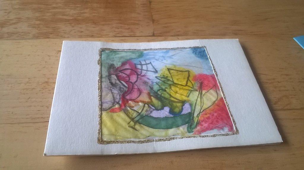 cartolina dipinto acquarello