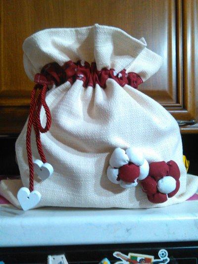 sacchetto in stoffa portapane
