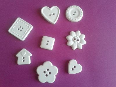 Gessetti bottoni varie forme