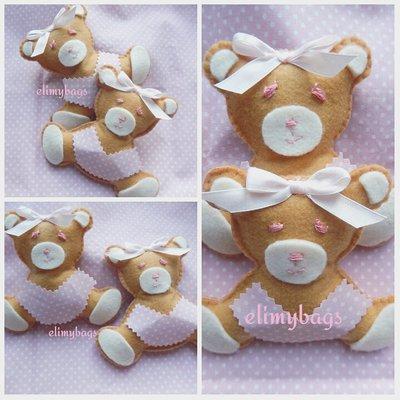 Bomboniera nascita battesimo orsetta per bambini rosa ♥