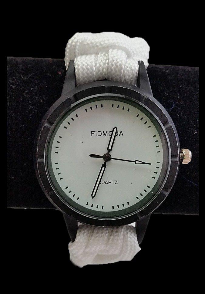 Orologio Unisex paracord bianco