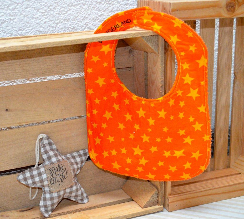 Bavaglino arancione con stelline