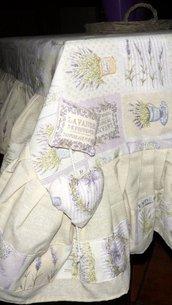 Copritavola 140*200 realizzato a mano con riccioni - Provence Shabby chic