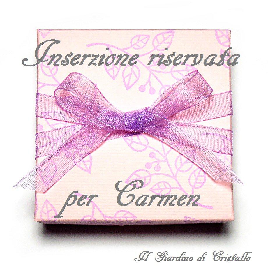 Inserzione riservata per Carmen