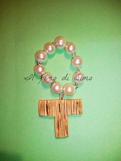 bomboniera per comunione cresima mini rosari in fimo