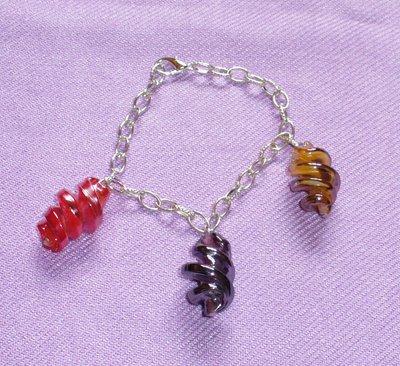 Bracciale Perle Spirale in Vetro - Tre Colori