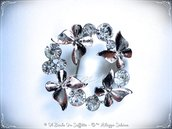 Spilla Farfalle e Cristalli