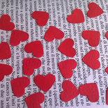 1000 coriandoli a cuore per coni matrimonio, cuori rossi, cuoricini di carta, decorazione tavola, cuore rosso, laurea bomboniere