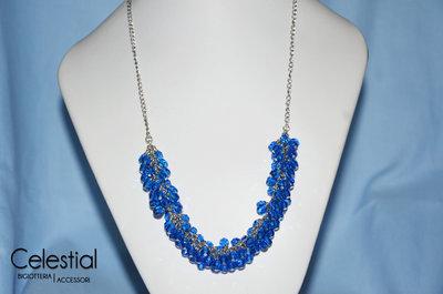 Collana Grappolo - Blu