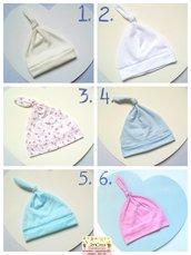 1 cuffia gnomo scalda testa per neonato