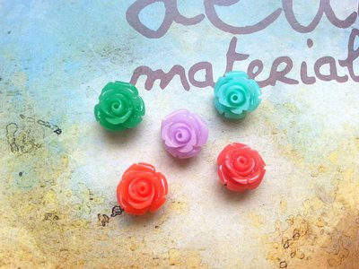 Lotto 5 roselline con foro - colore misti