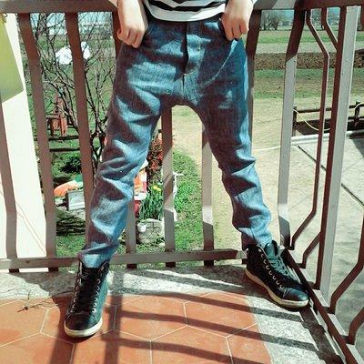 Jeans bimbo/bimba con cavallo basso tg 7 anni