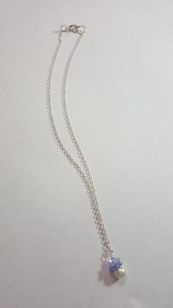 collana con cerchi di swarovski e perle