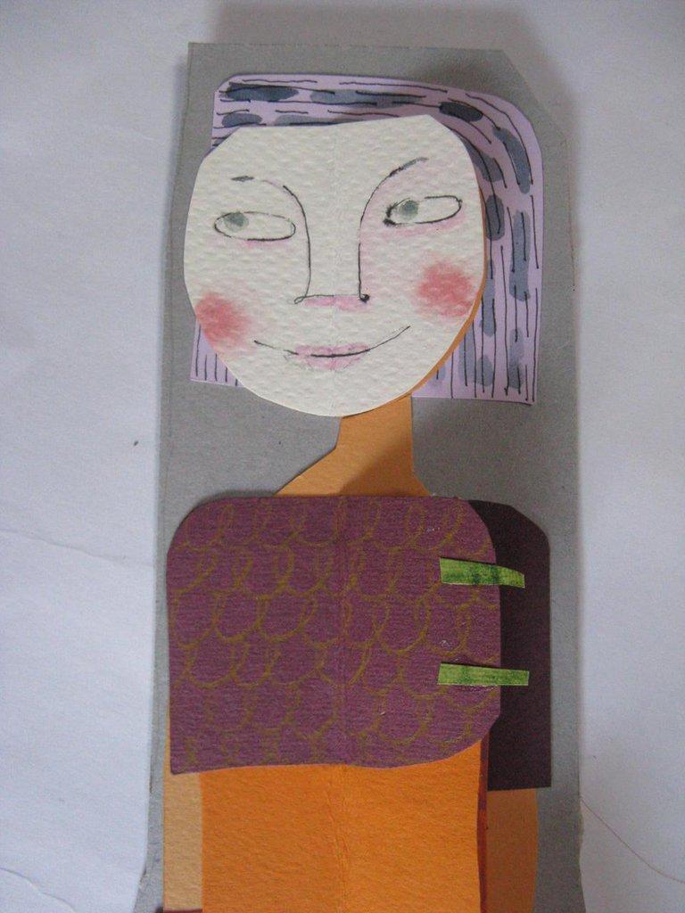 bambola di carta Miss Hjde