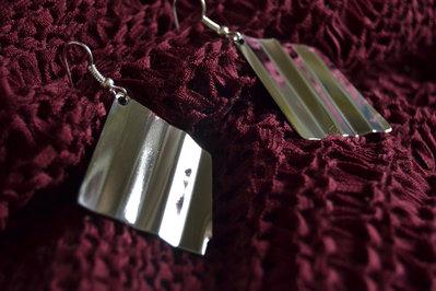 Orecchini pendenti rombi in acciaio Inox
