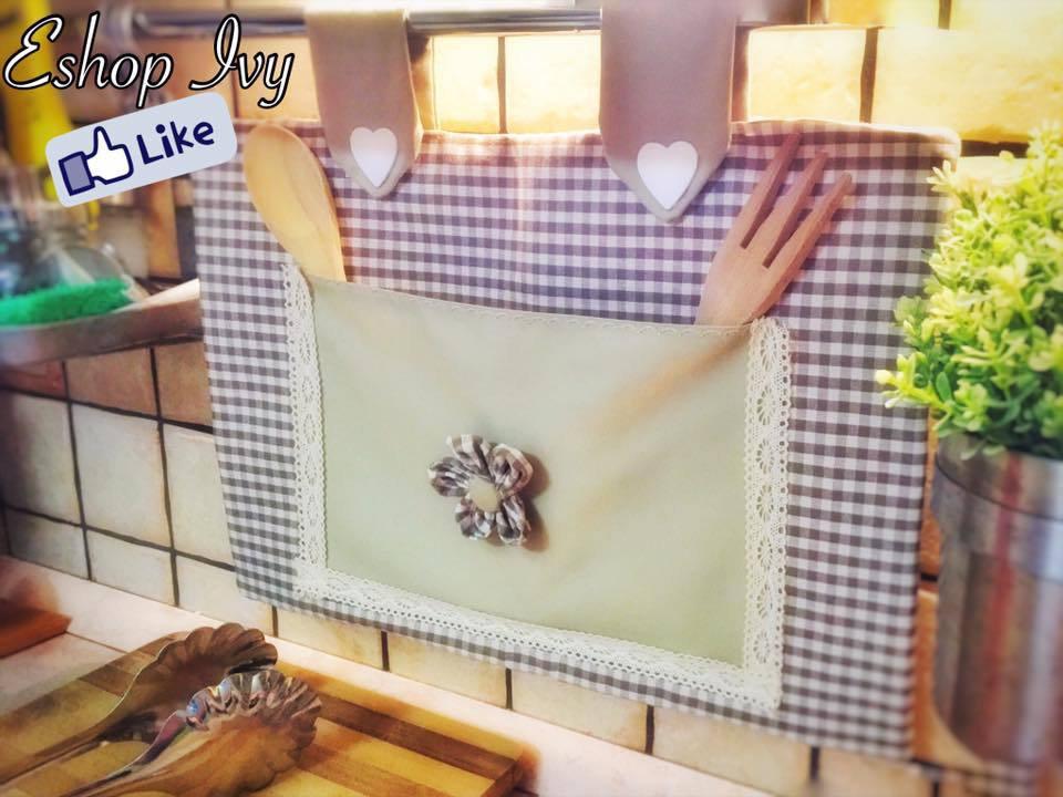 COPRIFORNO idea regalo festa della mamma vari colori stile country con cuoricini copri forno