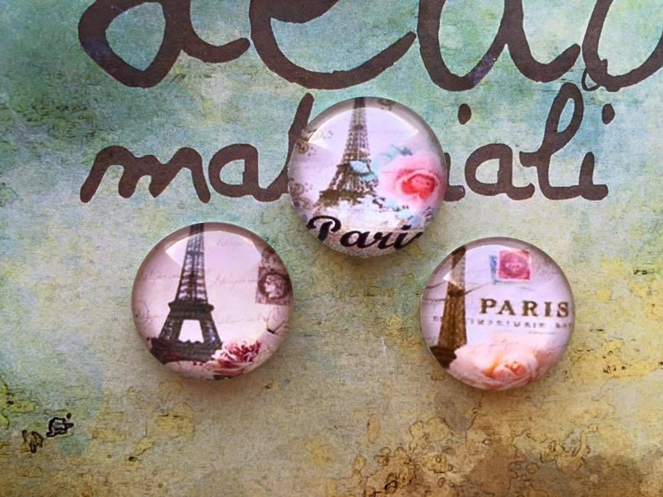 Lotto 3 cabochon Torre Eiffel mod.061