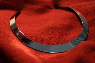 Girocollo in acciaio Inox lucidato a specchio