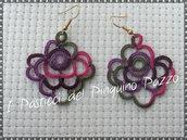 Orecchini cotone multicolor