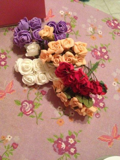 set 12 fiori di carta per creazioni