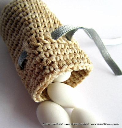 """Pattern - spiegazione per BOMBONIERA o PORTA BIJOUX o PORTA DENTINI """"clean & simple"""" a uncinetto crochet (idea regali di Natale)"""