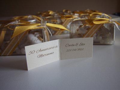 50 esimo anniversario - bomboniere nozze d'oro - nozze d'oro - confetti oro