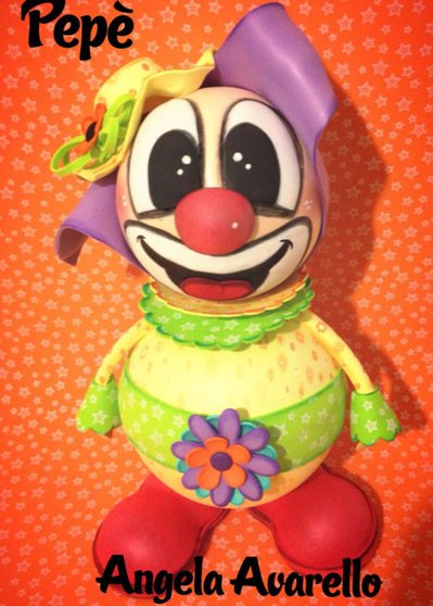 Moldes, Tutorial, Pepè il clown - GOMMA CREPLA, FOMMY