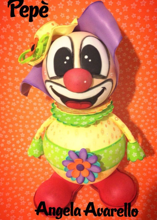 Moldes, Tutorial, Pepè il clown - GOMMA CREPLA, FOMMY
