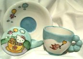 Tazza Kawaii: Hello Kitty parco giochi - set completo