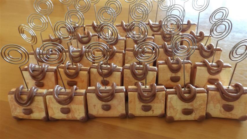INSERZIONE RISERVATA PER DANIELA - 50 segnaposti borse legno e fimo bomboniere nozze matrimonio