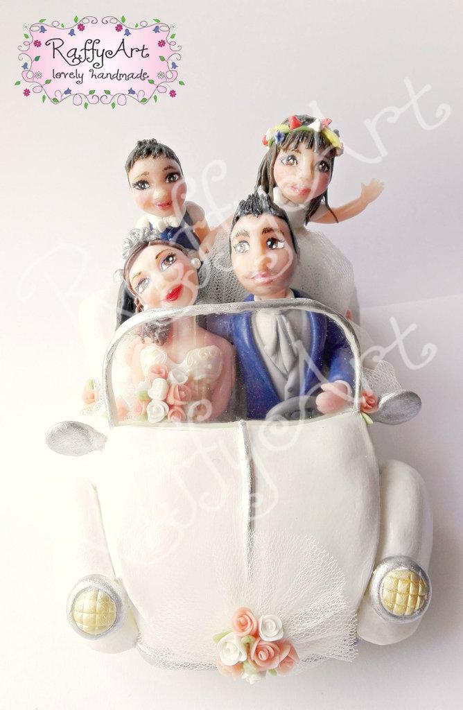 """Cake topper matrimonio """"Beatlelove (mod. 3)"""" (personalizzabile)"""