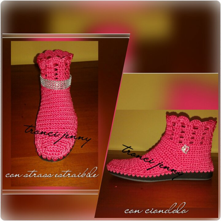 scarponcini ad uncinetto per donna,bambina,vari colori e varie misure.si realizzano su richiesta, i
