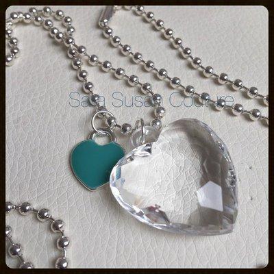 Collana con doppio cuore by Sara Susan Couture