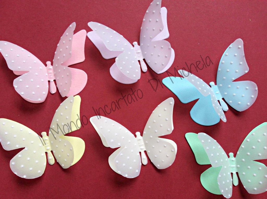 Farfalle di cartoncino colorato e vellum
