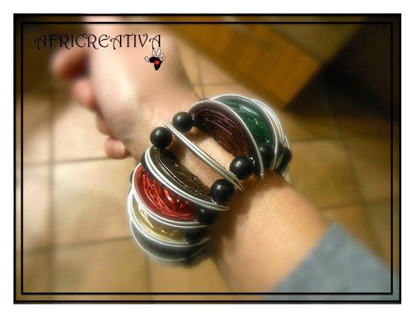 Bracciale elastico multicolore