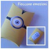 scatolina cuscino minion personalizzate
