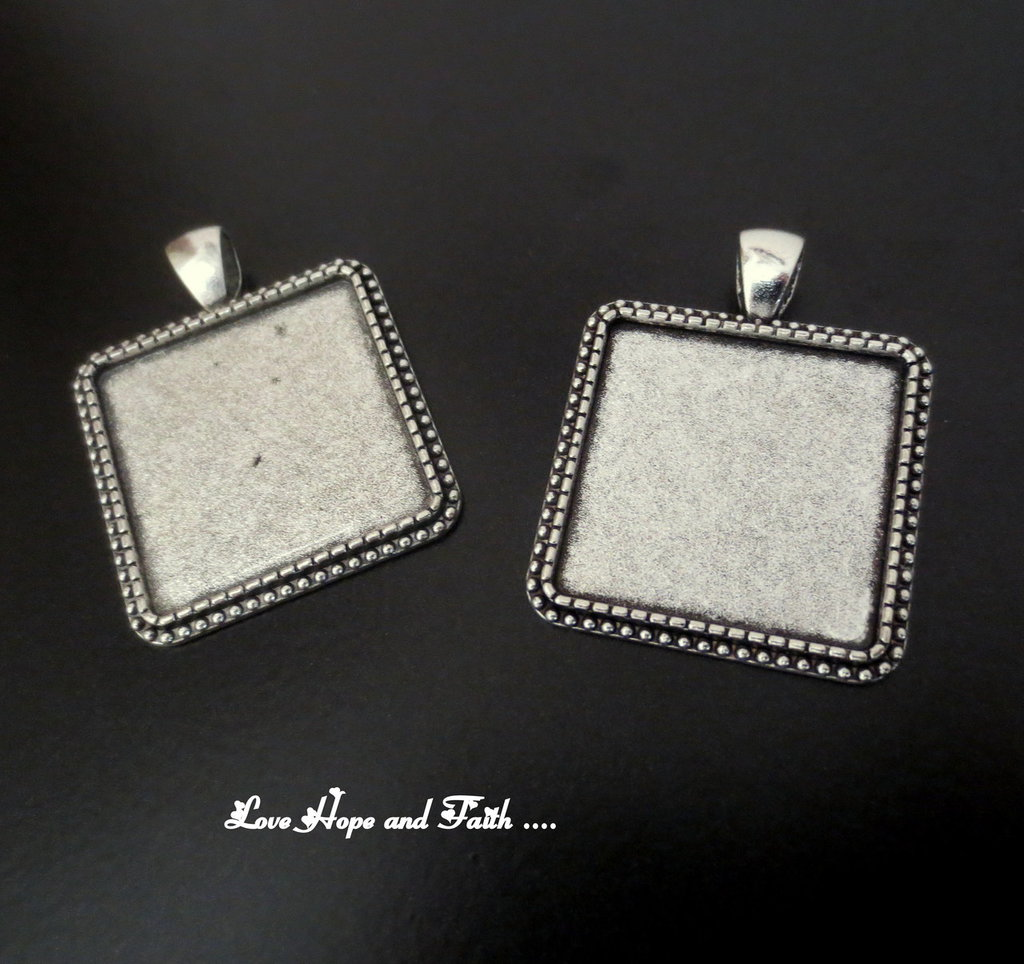 NOVITA'! Base cabochon color argento (acod.7-12)