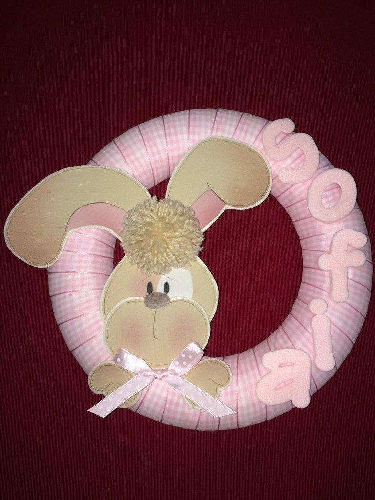 Ghirlanda coniglietto rosa