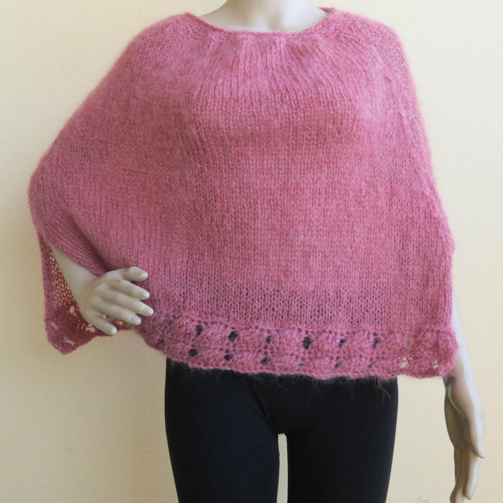 mantellina rosa antico primaverile