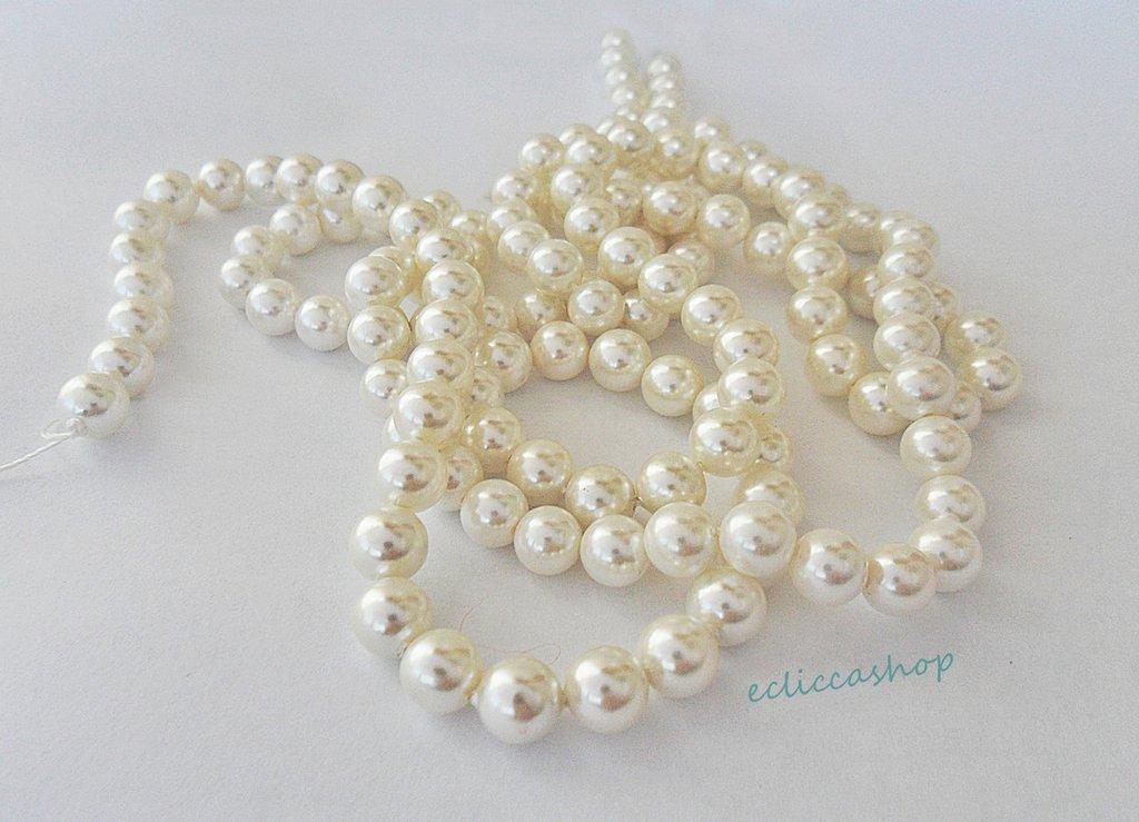 perla tonda maiorca 6 mm 20 pz