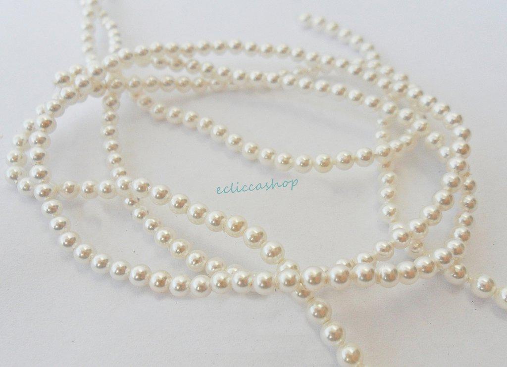 perla tonda maiorca 3 mm 40 pz