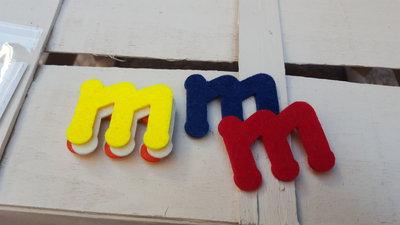 Lettere fustellate in feltro 3 mm