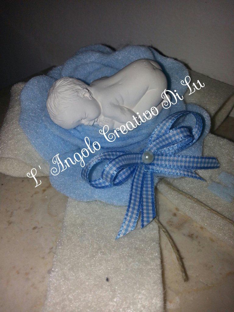 Bomboniera nascita con gessetto bimbo