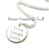 Collana con pendente Tondo - Live - Laugh - Love