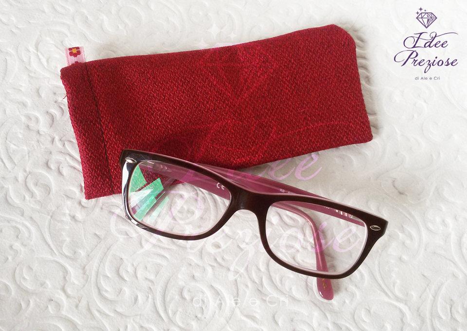 Custodia in stoffa porta occhiali