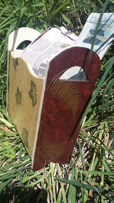 Porta riviste decoupage per la casa e per te decorare for Riviste per la casa