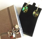 Orecchini realizzati con cristallo color citrino idea regalo per lei